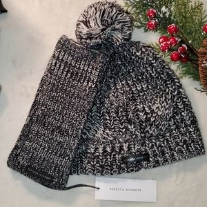 Rebecca Minkoff crochet hat and arm sleeves combo